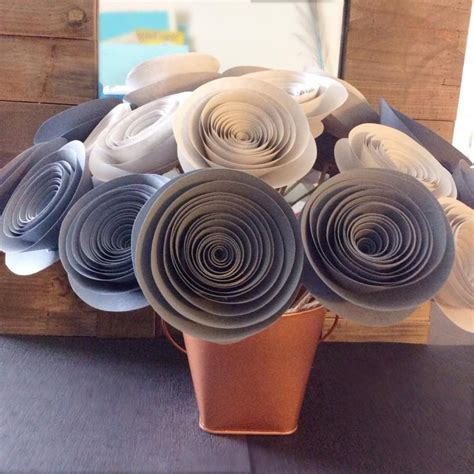 paper centerpieces for tables paper flowers gray light gray large stemmed