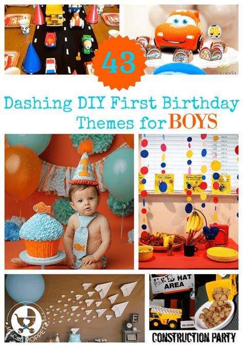10 1st birthday party ideas for part 2 tinyme 43 dashing diy boy birthday themes