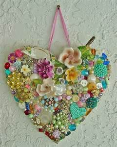 Hearts and Buttons Jewelry Vintage