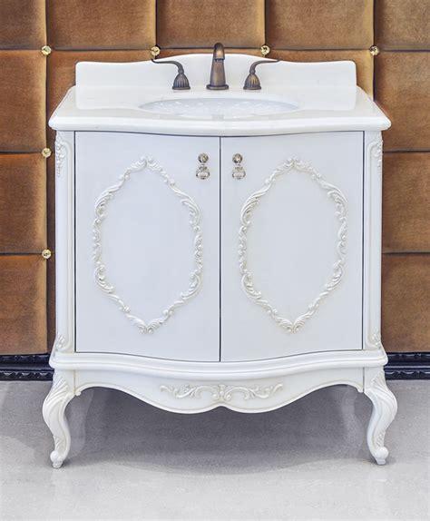 white antique bathroom vanity set chester