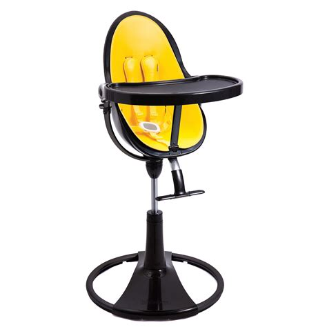 bloom black fresco chrome baby high chair yellow seat