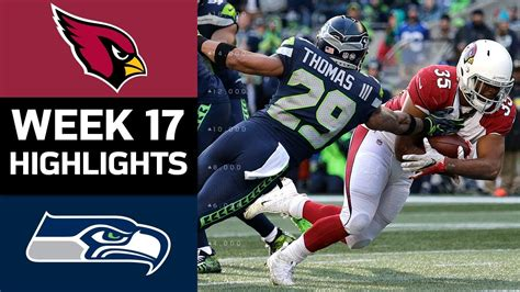 cardinals  seahawks nfl week  game highlights youtube