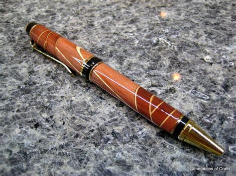 handmade wood  cigar ballpoint  custom inlay