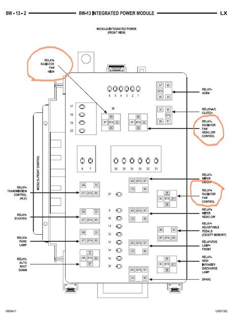 Diagram Of Fuse Box For 2005 Chrysler 300 Limited by 2005 Chrysler 300c Fuse Diagram 2005 Chrysler Crossfire