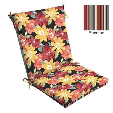 hton bay chili stitch ogee outdoor dining chair cushion