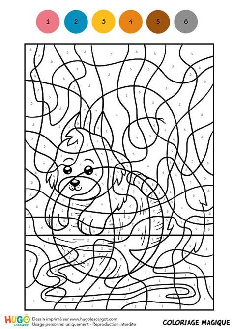 coloriage magique cm  petit chaton joueur