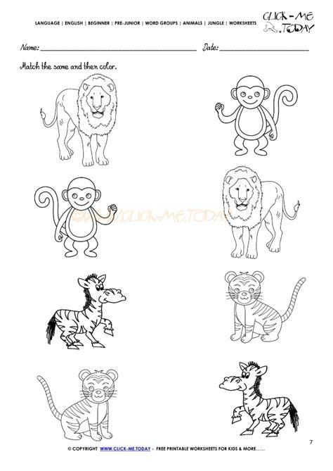 jungle animals kindergarten worksheets jungle best free