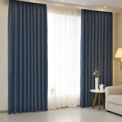 hotel curtains blackout living room solid color home