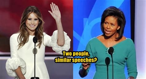 Melania Trump Copied Part of Her Speech From Michelle Obama