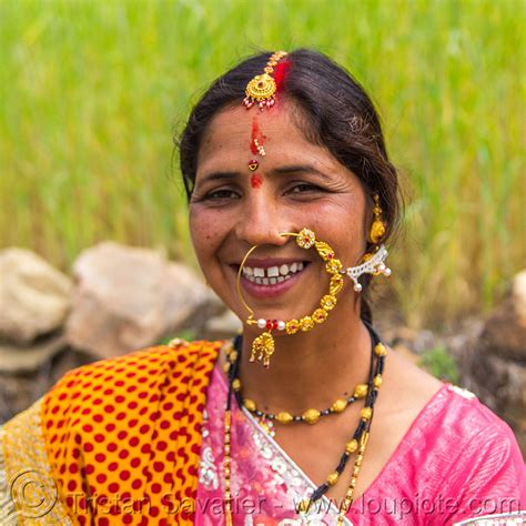 woman with large nose ring jewelry, india