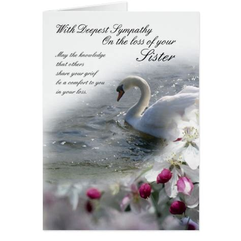 loss of sympathy card loss of sister zazzle