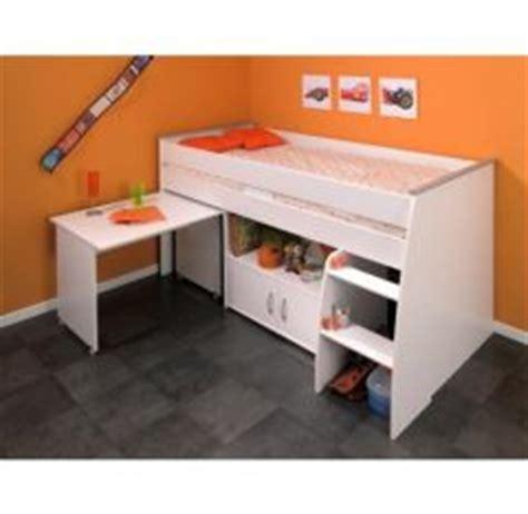 lit avec bureau intégré lit combine enfant lit surelevé lit compact lit