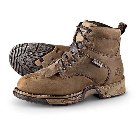 light brown boots mens men 39 s waterproof rocky aztec work boots light brown