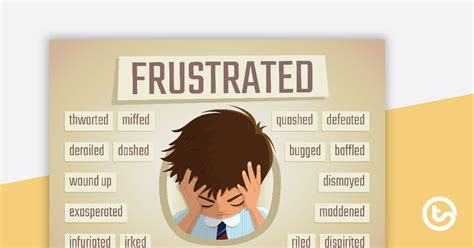 frustrated synonyms poster teaching resource teach starter
