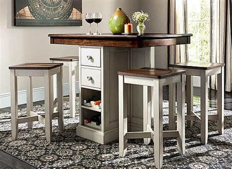shea  pc counter height dining set oak dove gray raymour flanigan