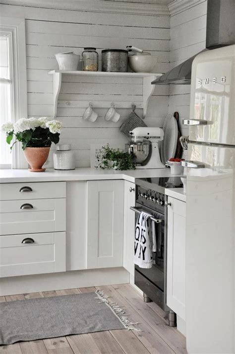 cuisine rustique blanche meubles cuisine bleu gris