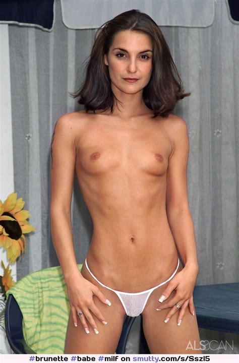 Brunette Babe Milf Skinny Firmtits Topless Panties