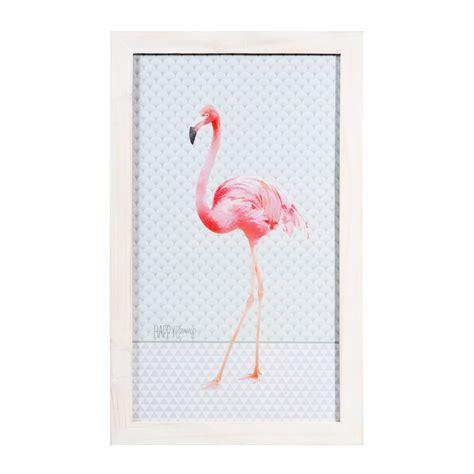 tableau en bois    cm happy flamingo maisons du monde pink flamingo flamant rose