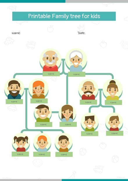 family tree examples  ms word pages  google
