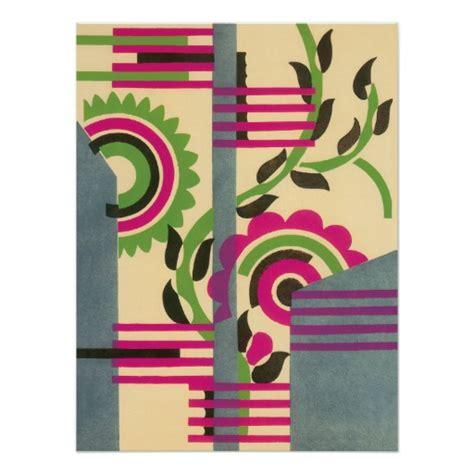 vintage deco jazz pochoir geometric pattern poster zazzle
