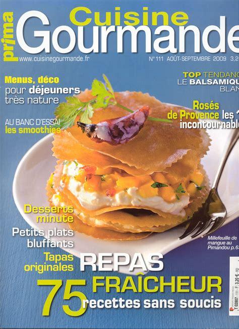 magazines de cuisine prima cuisine gourmande magazine