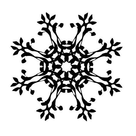 Snowflake Background Black And White by Black Snowflake Free Stock Photo Domain Pictures