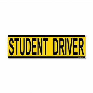 student driver car magnet 10 x 3 by qdshop With kitchen colors with white cabinets with student driver sticker