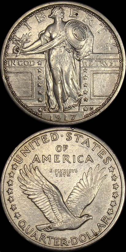 Liberty Quarter Standing Quarters Types 1917 Type