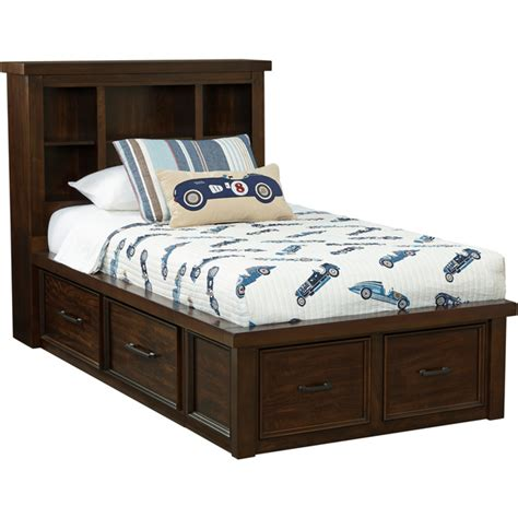 art van sonoma twin bookcase bed with storage overstock