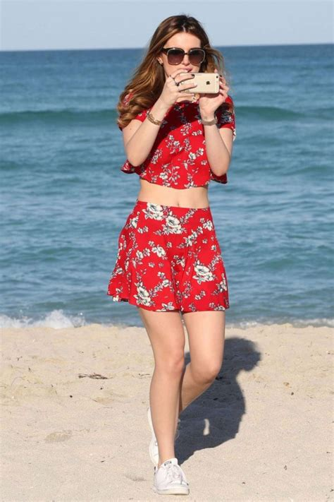 Skirt top beach summer outfits mini skirt bella thorne two-piece floral red crop tops ...