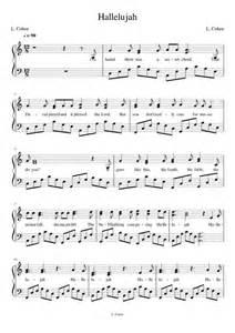 Hallelujah Piano Sheet Music Pentatonix