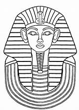 Tut King Coloring Egyptian Tutankhamun Glass Pages Drawings Ancient Egypt Painting Patterns Mask Printable Designs Printables Paintings Drawing Getcolorings Pharaoh sketch template