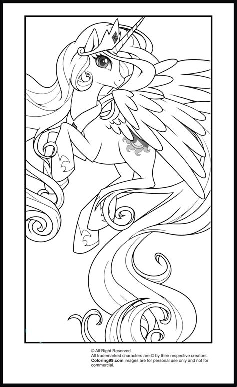 pony princess celestia coloring pages minister