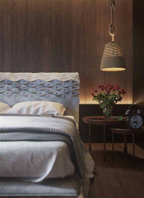 mur en bois pour une deco originale de chambre  coucher