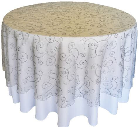 round lace table overlays silver embroidered organza swirl table overlays round