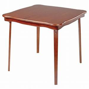 Stakmore Scalloped Edge Wood Folding Card Table At Hayneedle