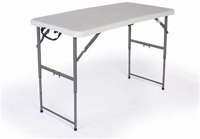 Folding Table Height Adjustable Legs Foldable Feet