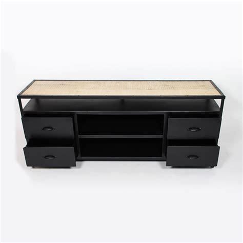 meuble t 233 l 233 en m 233 tal noir avec rangements made in meubles
