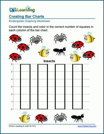 create bar charts worksheets k5 learning