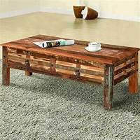 reclaimed coffee table Pioneer Rustic Reclaimed Wood 2 Drawer Coffee Table