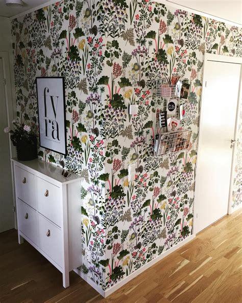 floral rabarber wallpaper  borastapeter bath