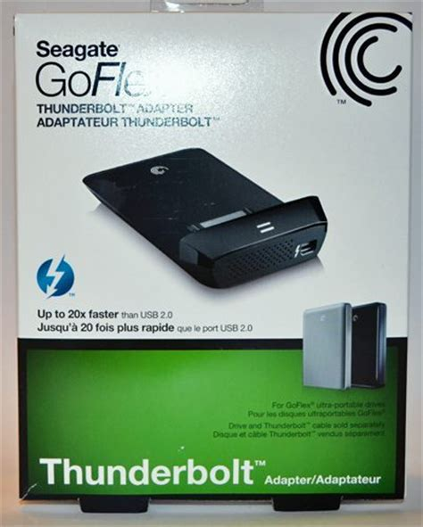 seagate goflex desk thunderbolt adapter seagate goflex thunderbolt adapter review