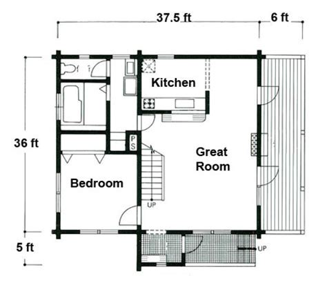 Woodpecker   Log Cabin Floorplans