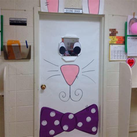 spring bunny door classroom door decoration pinterest