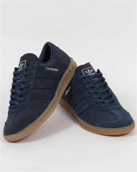 adidas hamburg trainers blue navy mineral originals mens