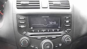 Honda Accord Radio Unlock Instructions And Codes