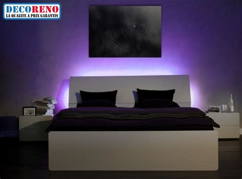 chambre de culture led lit suspendu eclairage led design de maison