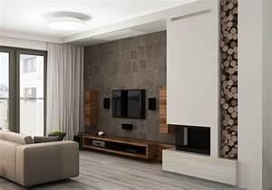 Wohnzimmer Wand Holz : holz tv sideboard und wandschr nke wohnzimmer ~ Lizthompson.info Haus und Dekorationen