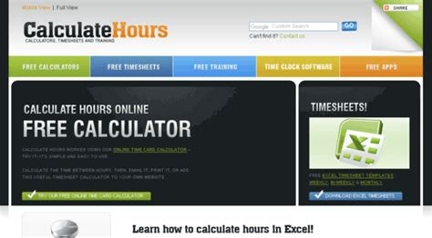 timecard hours calculatehours com free online time card calculat