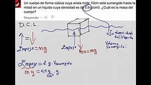 Como calcular la masa de un cuerpo sumergido, empuje ...